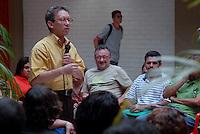 Jornalista Lúcio Flávio Pinto durante a homenagem.<br /> <br /> Comemoração pelos 20 anos do jornal Pessoal do jornalista Lúcio Flávio Pinto na UFPa.Belém, Pará, Brasil.2008Foto Paulo Santos