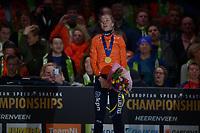 SPEEDSKATING: HEERENVEEN: 11-01-2020, IJsstadion Thialf, European Championship distances, Podium 3000m Ladies, Esmee Visser (NED), ©foto Martin de Jong