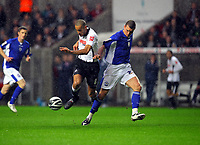 ATTENTION SPORTS PICTURE DESK<br /> Pictured: Darren Pratley of Swansea City in action <br /> Re: Coca Cola Championship, Swansea City Football Club v Leicester City at the Liberty Stadium, Swansea, south Wales. Saturday 16 January 2010
