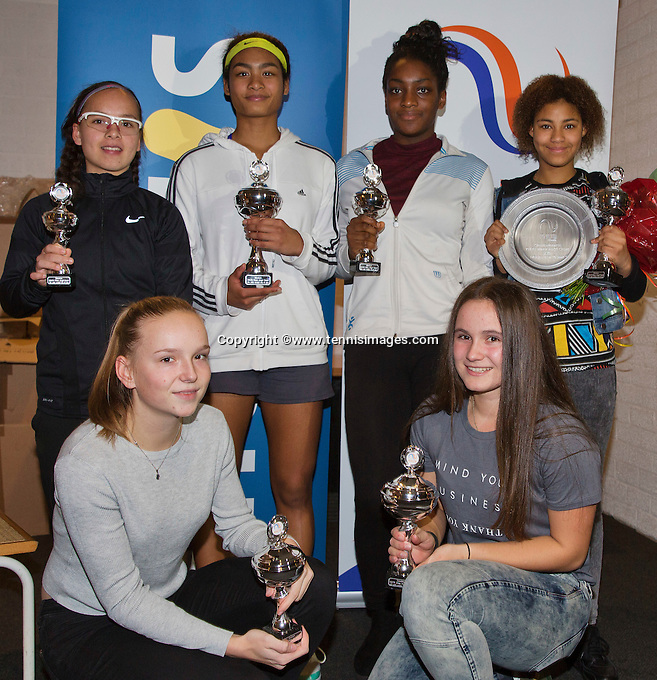 Almere, Netherlands, December 6, 2015, Winter Youth Circuit, Winner girls 16years: <br /> Photo: Tennisimages/Henk Koster