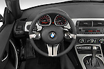 Steering wheel view of a 2008 BMW Z4 Roadster