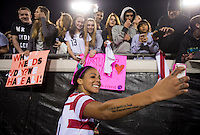 USWNT fans, Sydney Leroux.  The USWNT defeated Scotland, 4-1, during a friendly at EverBank Field in Jacksonville, Florida.