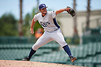 GCL Rays relief pitcher Chris Carden (19) delivers a pitch during a game against the GCL Orioles on July 21, 2017 at Ed Smith Stadium in Sarasota, Florida.  GCL Orioles defeated the GCL Rays 9-0.  (Mike Janes/Four Seam Images)