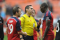 Washington, D.C.- March 29, 2014. MLS Referee Jair Marrufo.  The Chicago Fire tied D.C. United 2-2 during a Major League Soccer Match for the 2014 season at RFK Stadium.