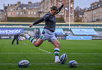 21st November 2020; Recreation Ground, Bath, Somerset, England; English Premiership Rugby, Bath versus Newcastle Falcons; Toby Flood of Newcastle Falcons warms up
