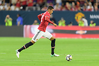 Houston, TX - Thursday July 20, 2017: Chris Smalling during a match between Manchester United and Manchester City in the 2017 International Champions Cup at NRG Stadium.