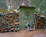 Outhouse at Tom's Place, Eastern Sierra, California