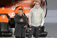 BUENOS AIRES - ARGENTINA, 19-05-2021: Marcelo Gallardo, tecnico de River Plate (ARG) gesticula durante partido del grupo D de la fase de grupos fecha 5 entre River Plate (ARG) y el Independiente Santa Fe (COL) por la Copa CONMEBOL Libertadores 2021 en el estadio Monumental Antonio Vespucio Liberti de la ciudad de Buenos Aires. / Marcelo Gallardo, coach of River Plate (ARG) gestures during a match of the group D for the group phase, 5th date between between River Plate (ARG) and Independiente Santa Fe (COL) for the Copa CONMEBOL Libertadores 2021 at the Monumental Antonio Vespucio Liberti Stadium in Buenos Aires city. / Photo: VizzorImage / Fotobaires / Javier Gonzalez Toledo / Cont.