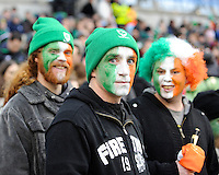 Irish fans enter the spirit during the RBS 6 Nations match between Ireland and England at the Aviva Stadium, Dublin on Sunday 10 February 2013 (Photo by Rob Munro)