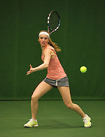 01-12-13,Netherlands, Almere,  National Tennis Center, Tennis, Winter Youth Circuit, Romy Kuipers   <br /> Photo: Henk Koster
