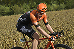 Soren Kragh Andersen (DEN) Team Sunweb and Boy Van Poppel (NED) Roompot-Charles out front during the 113th edition of Paris-Tours 2019, running 217km from Chartres to Tours, France. 13th October 2019.<br /> Picture: ASO/Bruno Bade | Cyclefile<br /> All photos usage must carry mandatory copyright credit (© Cyclefile | ASO/Bruno Bade)