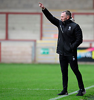 Lincoln City manager Michael Appleton shouts instructions to his team from the technical area<br /> <br /> Photographer Chris Vaughan/CameraSport<br /> <br /> The EFL Sky Bet League One - Fleetwood Town v Lincoln City - Saturday 17th October 2020 - Highbury Stadium - Fleetwood<br /> <br /> World Copyright © 2020 CameraSport. All rights reserved. 43 Linden Ave. Countesthorpe. Leicester. England. LE8 5PG - Tel: +44 (0) 116 277 4147 - admin@camerasport.com - www.camerasport.com
