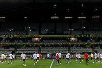 BELO HORIZONTE, MG, 20 JUNHO 2013 - COPA DAS CONFEDERACOES -  TREINO SELEÇÃO DO MÉXICO - Jogadores da seleção Mexicana durante sessão de treinamento de Reconhecimento de gramado no Estadio Mineirao em Belo Horizonte, Minas Gerais nesta Sexta, 20 (FOTO: NEREU JR / BRAZIL PHOTO PRESS).
