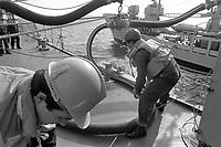 - Italian Navy, Vittorio Veneto cruiser, refuelling from the auxiliary vessel Vesuvio (May 1984)<br /> <br /> - Marina Militare Italiana, incrociatore Vittorio Veneto, rifornimento di carburante dalla nave ausiliaria Vesuvio (Maggio 1984)