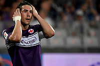 Dusan Vlahovic of ACF Fiorentina reacts during the Italy cup football match between ACF Fiorentina and Cosenza calcio at Artemio Franchi stadium in Florence (Italy), August 13th, 2021. Photo Andrea Staccioli / Insidefoto