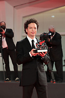 VENICE, ITALY - SEPTEMBER 12: Michel Franco poses with the Silver Lion - Award for Best Director during the winners photocall at the 77th Venice Film Festival on September 12, 2020 in Venice, Italy. <br /> CAP/MPI/AF<br /> ©AF/MPI/Capital Pictures