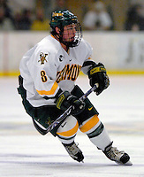 "5 January 2007: University of Vermont forward Dean Strong (8) from Mississauga, ON, in action against the University of New Hampshire Wildcats at Gutterson Fieldhouse in Burlington, Vermont. The UNH Wildcats defeated the UVM Catamounts 7-1 in front of a record setting 48th consecutive sellout at ""the Gut""...Mandatory Photo Credit: Ed Wolfstein Photo.<br />"
