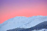 Warner Mountains in snow at sunrise. California, Oregon border.