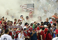 USA fans during a CONCACAF Gold Cup match against Honduras at RFK Stadium on July 8 2009 in Washington D.C. USA won the match 2-0.