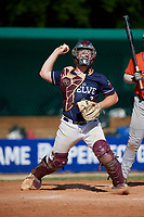 Chanden Scamardo (3) during the WWBA World Championship at Lee County Player Development Complex on October 9, 2020 in Fort Myers, Florida.  Chanden Scamardo, a resident of College Station, Texas who attends College Station High School, is committed to Texas A&M.  (Mike Janes/Four Seam Images)