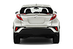 Straight rear view of 2021 Toyota C-HR LE 5 Door SUV Rear View  stock images