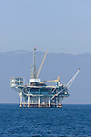 Santa Barbara, California; oil rigs off the coast of Santa Barbara
