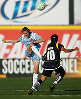 Keeley Dowling (17) of Sky Blue FC. The Los Angeles Sol defeated Sky Blue FC 2-0 during a Women's Professional Soccer match at TD Bank Ballpark in Bridgewater, NJ, on April 5, 2009. Photo by Howard C. Smith/isiphotos.com