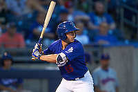 Tulsa Drillers outfielder Adam Law (15) at bat during a game against the Midland RockHounds on June 2, 2015 at Oneok Field in Tulsa, Oklahoma.  Midland defeated Tulsa 6-5.  (Mike Janes/Four Seam Images)