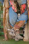 Boots, spurs, chaps, Jordan Valley Big Loop Rodeo, Ore.