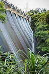 The dam wall on the Upper Aberdeen Reservoir, Hong Kong Island.