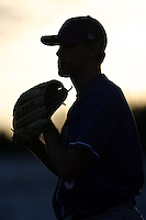 August 18th, 2007:  Silhouette of an  Auburn Doubledays pitcher, Class-A affiliate of the Toronto Blue Jays at Dwyer Stadium in Batavia, NY.  Photo by:  Mike Janes/Four Seam Images