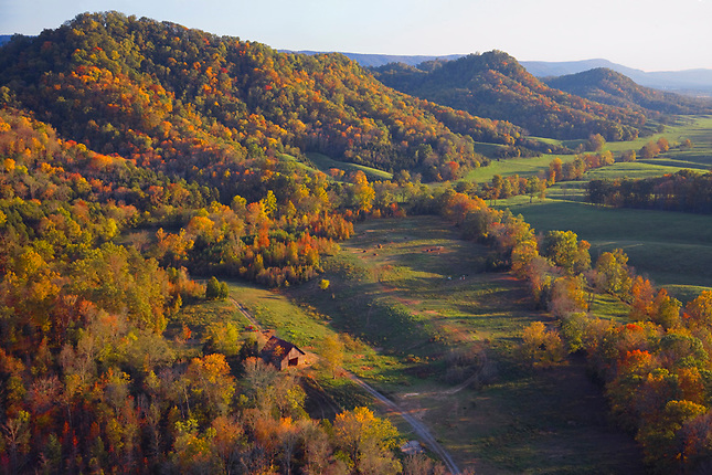 Farm at foothills of Cherokee Nat. Forest