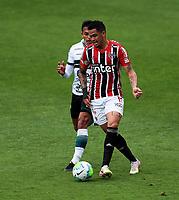 4th October 2020; Couto Pereira Stadium, Curitiba, Parana, Brazil; Brazilian Series A, Coritiba versus Sao Paulo;  Robson of Coritiba held off by Luciano of Sao Paulo