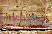 Great Gallery Pictographs in Horseshoe Canyon of Canyonlands National Park. Utah, Canyonlands National Park, Horseshoe Canyon.