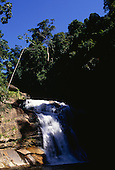Desengano, Brazil. Waterfall in a reserve of threatened Mata Atlantica Atlantic rain forest.