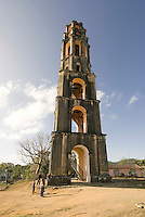 Cuba, Wachturm für Sklaven in Manaca Iznaga. Provinz Sancti Spiritus, Unesco-Weltkulturerbe