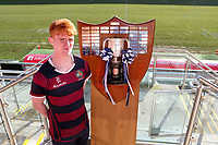 Monday 27th January 2020 | Ulster Schools' Cup Draw<br /> <br /> Belfast Royal Academy captain Rob Sturgess at the draw for the Ulster Schools' Cup Quarter Finals held at Kingspan Stadium, Ravenhill Park, Belfast, Northern Ireland. Fixtures to be played on or before 8 Feb 2020.  Photo credit - John Dickson DICKSONDIGITAL