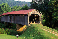 covered bridge, OH, Ohio, Knowlton Covered Bridge ca. 1887 on the Covered Bridge Scenic Byway in Southeastern Ohio.