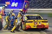 Monster Energy NASCAR Cup Series<br /> Go Bowling 400<br /> Kansas Speedway, Kansas City, KS USA<br /> Saturday 13 May 2017<br /> Kyle Busch, Joe Gibbs Racing, M&M's Red Nose Toyota Camry<br /> World Copyright: Nigel Kinrade<br /> LAT Images<br /> ref: Digital Image 17KAN1nk09936