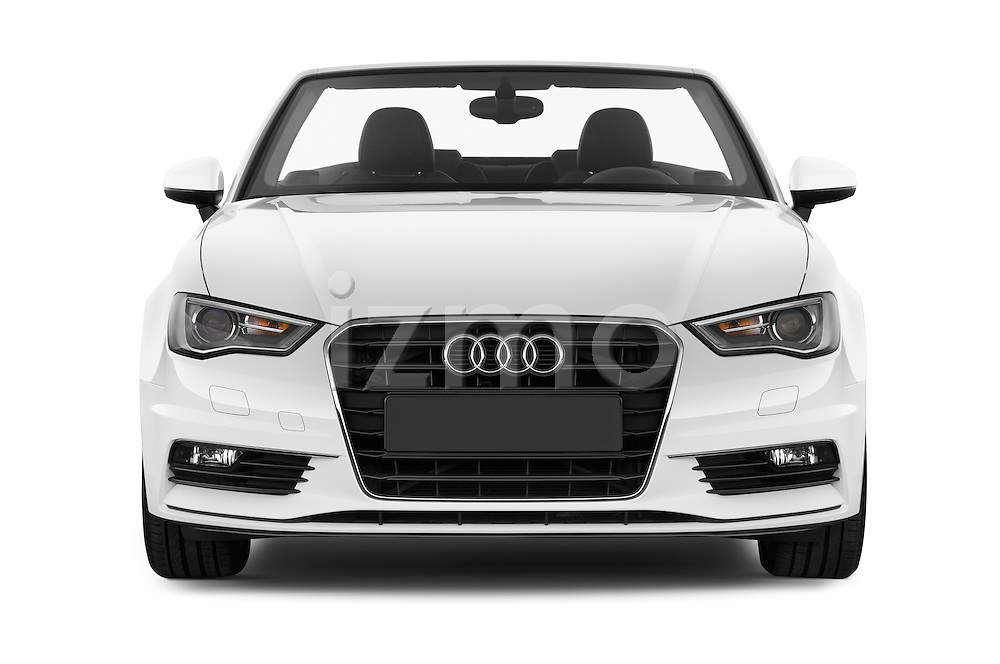 Car photography straight front view of a 2015 Audi A3 Ambition 2 Door Convertible 2WD Front View