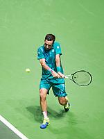 Rotterdam, The Netherlands, 11 Februari 2019, ABNAMRO World Tennis Tournament, Ahoy, first round match: Mikhail Kukushkin (KAZ),<br /> Photo: www.tennisimages.com/Henk Koster