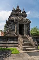 Borobudur, Java, Indonesia.  Pawon  Buddhist Temple, 8th-9th. century.  The deity Kala guards ther entrance.