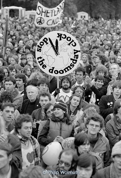 CND demonstration, Hyde Park, London, 1981.