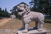 Grab Tailing, Geisterallee, westliche Qinggräber (qing xi  ling) bei Peking (Beijing), China, Unesco-Weltkulturerbe