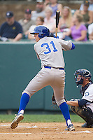 Riley King (31) of the Burlington Royals at bat against the Pulaski Mariners at Calfee Park on June 20, 2014 in Pulaski, Virginia.  The Mariners defeated the Royals 6-4. (Brian Westerholt/Four Seam Images)