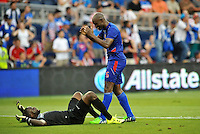 Kansas City, KS. - July 13, 2015:<br /> Haiti defeated Honduras 1-0 to finish group play in the 2015 Gold Cup at Sporting Park.