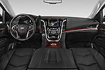 Stock photo of straight dashboard view of 2017 Cadillac Escalade-ESV Luxury 5 Door SUV Dashboard