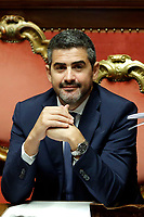 Riccardo Fraccaro minister for the relationships with parliament<br /> Roma 12/09/2018. Senato. Informativa sulla Nave Diciotti<br /> Rome September 12th 2018. Senate. Speech of the Italian Premier about the Diciotti ship, carrying 177 migrants, rejected by Italy.<br /> Foto Samantha Zucchi Insidefoto