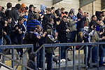 Chester City 1 Altrincham 3, 21/11/2009. Deva Stadium, Football Conference. Home supporters in the Harry McNally Stand celebrating their team's goal at the Deva Stadium, Chester, home of Chester City Football Club, during the club's Blue Square Premier fixture against Cheshire rivals Altrincham. The visitors won by three goals to one. Chester were in administration at the start of the season and were penalised 25 points before the season began. Photo by Colin McPherson.