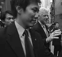 Former American president, Bill Clinton in Central, Hong Kong                               <br /> <br /> <br /> Nov 2003